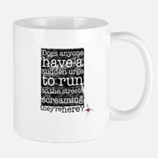 Does anyone... (black) Mug