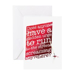 Does anyone... (red) Greeting Card