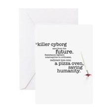 Killer cyborg... Greeting Card