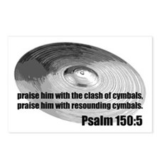 Psalm 150:5 - Christian Drumm Postcards (Package o