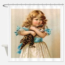 """Victorian Girl"" Shower Curtain"