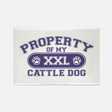 Cattle Dog PROPERTY Rectangle Magnet