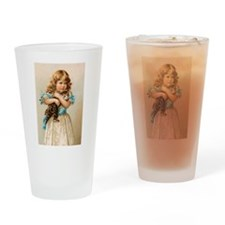 """Victorian Girl"" Drinking Glass"