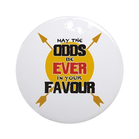 May the Odds be Ever in your Ornament (Round)
