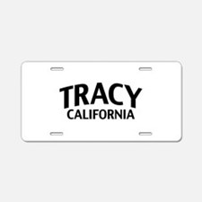 Tracy California Aluminum License Plate