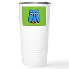 Aqua Owl green Travel Mug