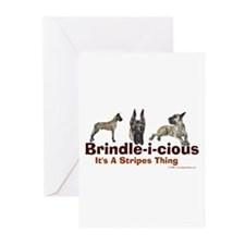 Brindle-i-cious 3 It's a Stri Greeting Cards (Pack