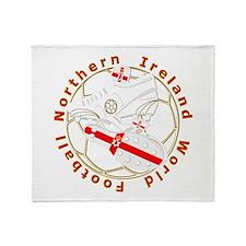 Northern Ireland Football Crest Throw Blanket