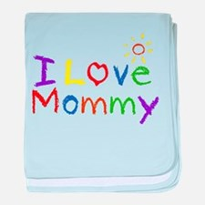 I Love Mommy baby blanket