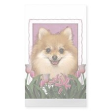 Mothers Day Pink Tulips Pom Decal