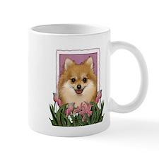 Mothers Day Pink Tulips Pom Mug
