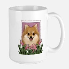 Mothers Day Pink Tulips Pom Mug