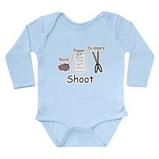 Rock Paper Scissors! Long Sleeve Infant Bodysuit
