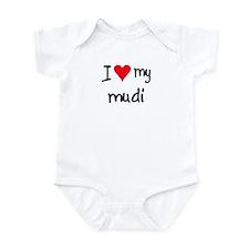 I LOVE MY Mudi Infant Bodysuit