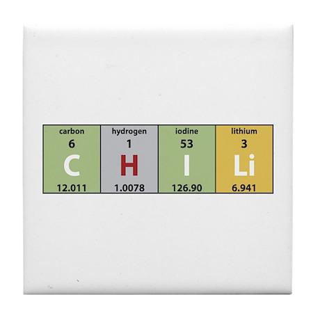 Chemistry Chili Tile Coaster