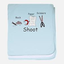 Rock Paper Scissors! Paper Wi baby blanket