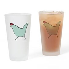 Polka Dot Chicken Drinking Glass