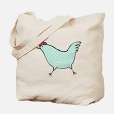Polka Dot Chicken Tote Bag