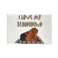 Bloodhound Rectangle Magnet