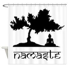 Buddha under Bodhi Tree Shower Curtain