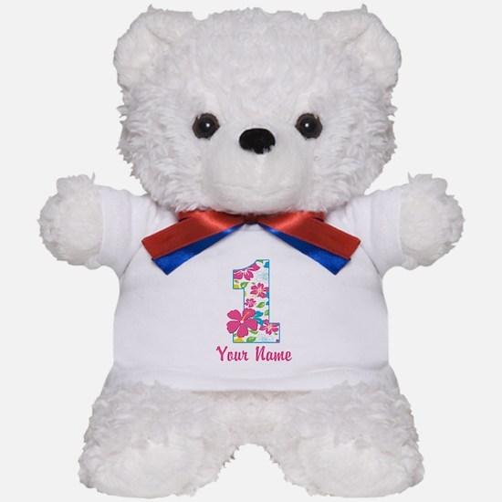 1st Birthday Tropical Teddy Bear