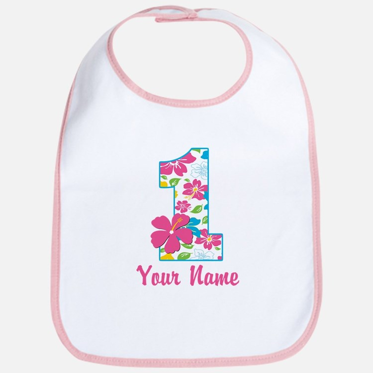 1st Birthday Tropical Bib
