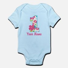 1st Birthday Tropical Infant Bodysuit