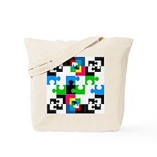 Unique Cow puzzle Tote Bag