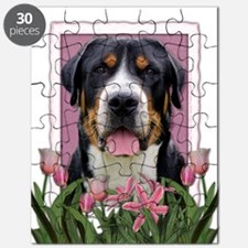 Mothers Day Pink Tulips Roo Puzzle