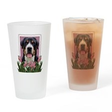 Mothers Day Pink Tulips Roo Drinking Glass