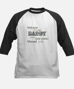 Welcome Home Daddy (Soldier) Kids Baseball Jersey