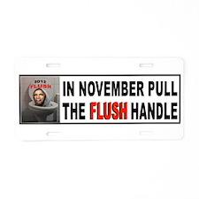 FLUSH THE CRAP Aluminum License Plate