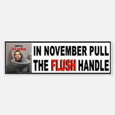 FLUSH THE CRAP Sticker (Bumper)