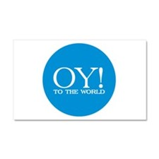 Oy! to the World Products Car Magnet 20 x 12