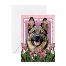 Mothers Day Pink Tulips Shepherd Greeting Card