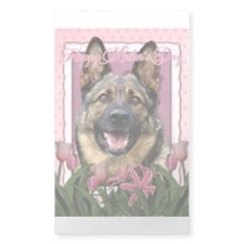 Mothers Day Pink Tulips Shepherd Decal