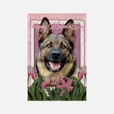Mothers Day Pink Tulips Shepherd Rectangle Magnet