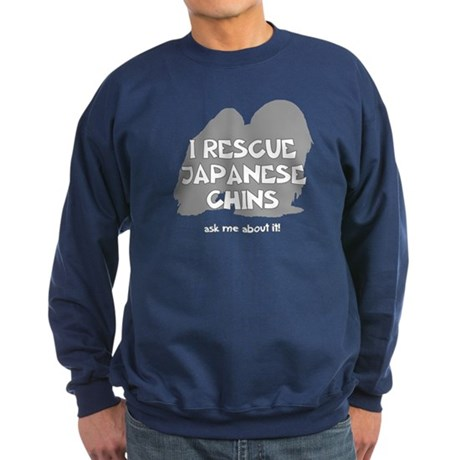 I RESCUE Japanese Chins Sweatshirt (dark)