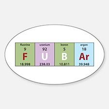 Chemistry Fubar Oval Decal