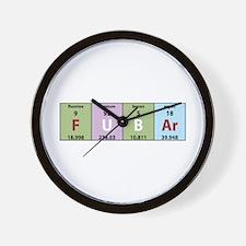 Chemistry Fubar Wall Clock