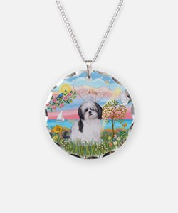 Angel Star-ShihTzu#1 Necklace Circle Charm