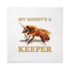 My Honey's a Keeper Queen Duvet