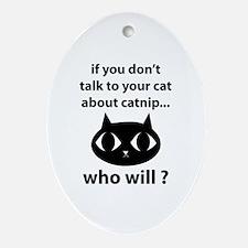 Catnip Ornament (Oval)