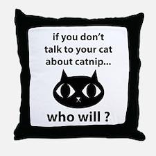 Catnip Throw Pillow