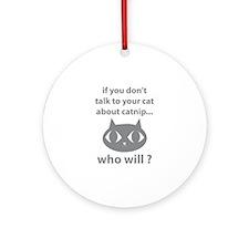 Catnip Ornament (Round)