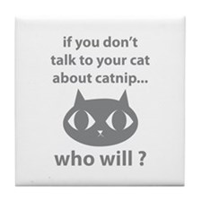 Catnip Tile Coaster