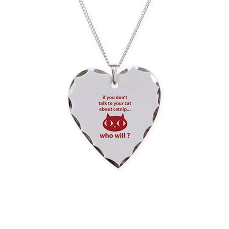 Catnip Necklace Heart Charm