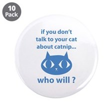 "Catnip 3.5"" Button (10 pack)"