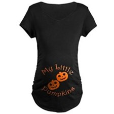 Little Pumpkins Halloween Twins Maternity T-Shirt