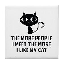 People I Meet Tile Coaster